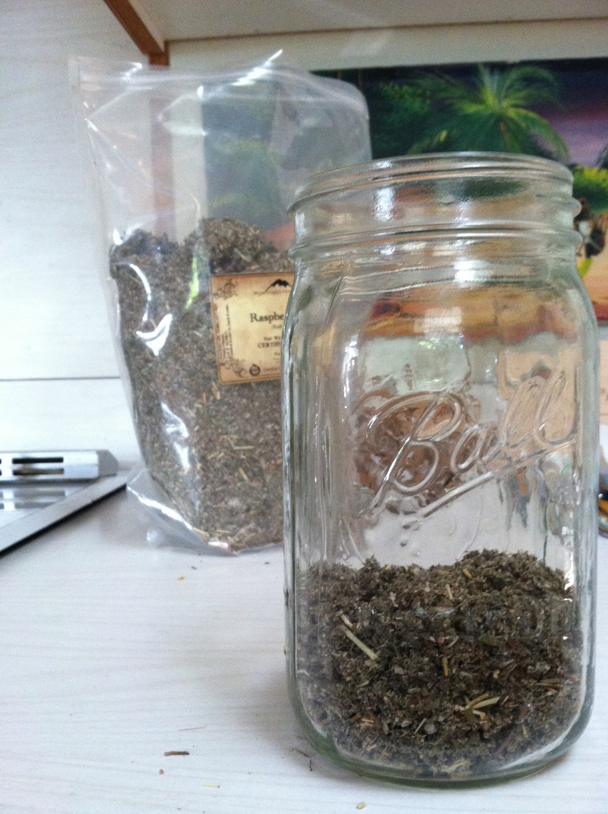 Dried Herb in Jar