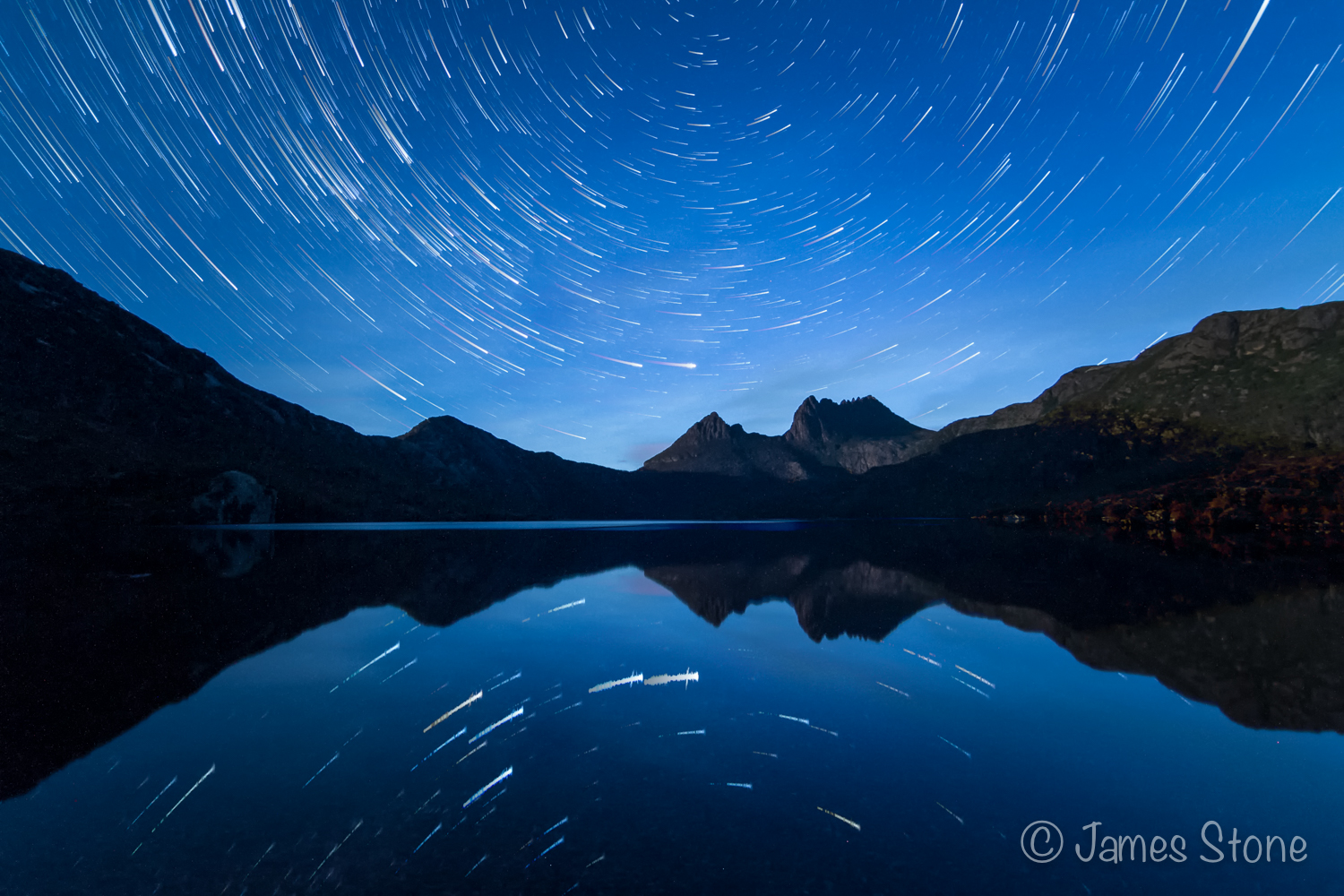 Cradle Mountain star trail