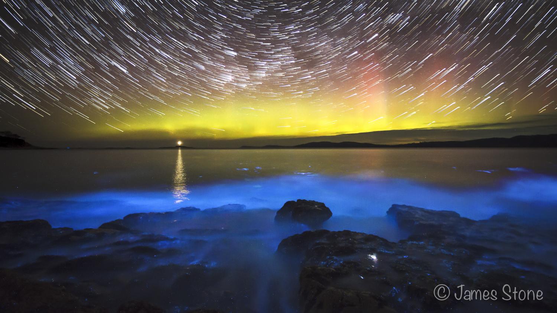 Nature's light show star trail