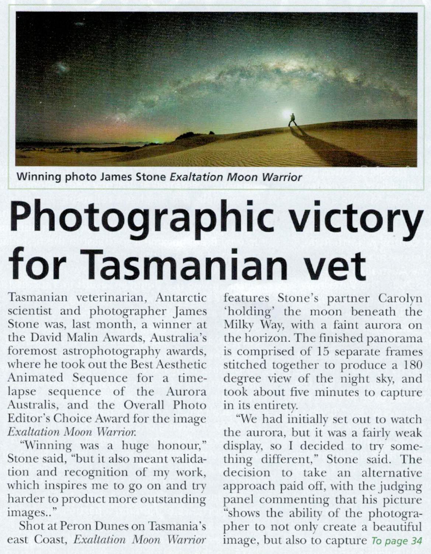 Veterinarian Magazine follow-up 1