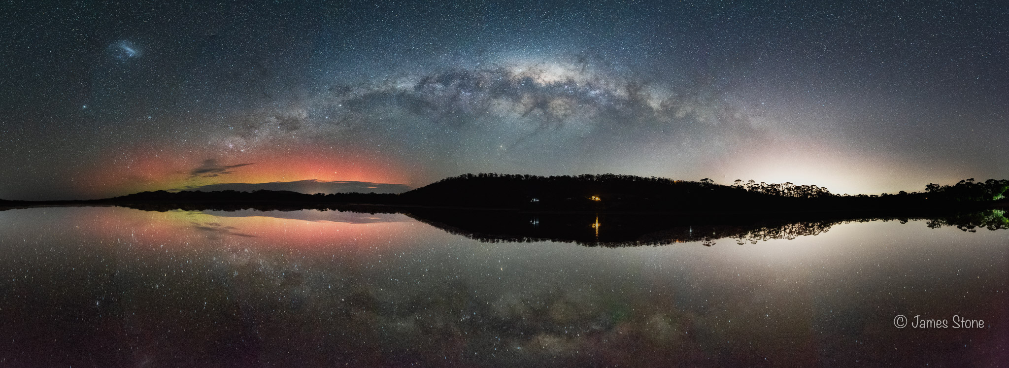 Aurora and Milky Way reflections