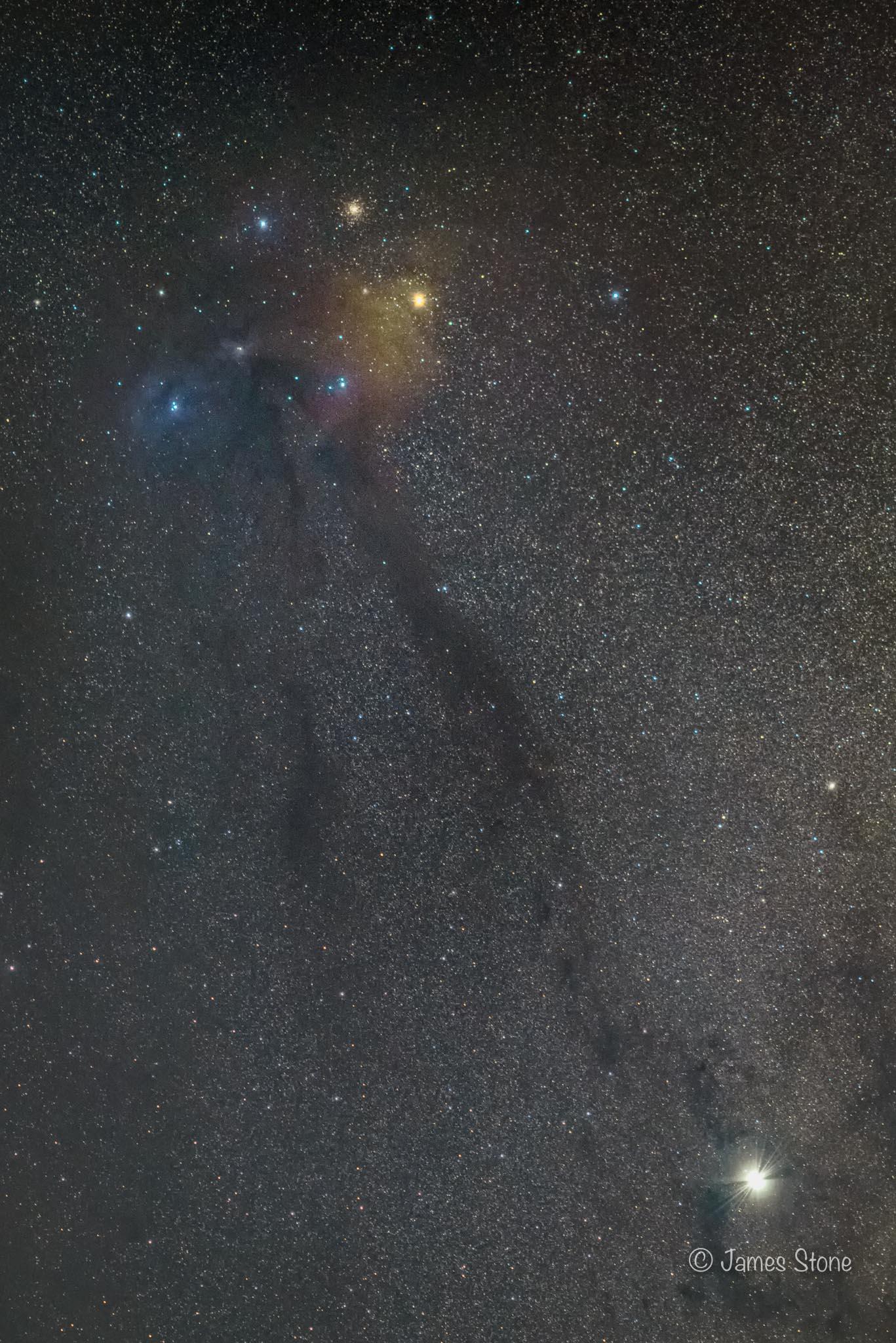 Rho Ophiuchi, Antares & Jupiter