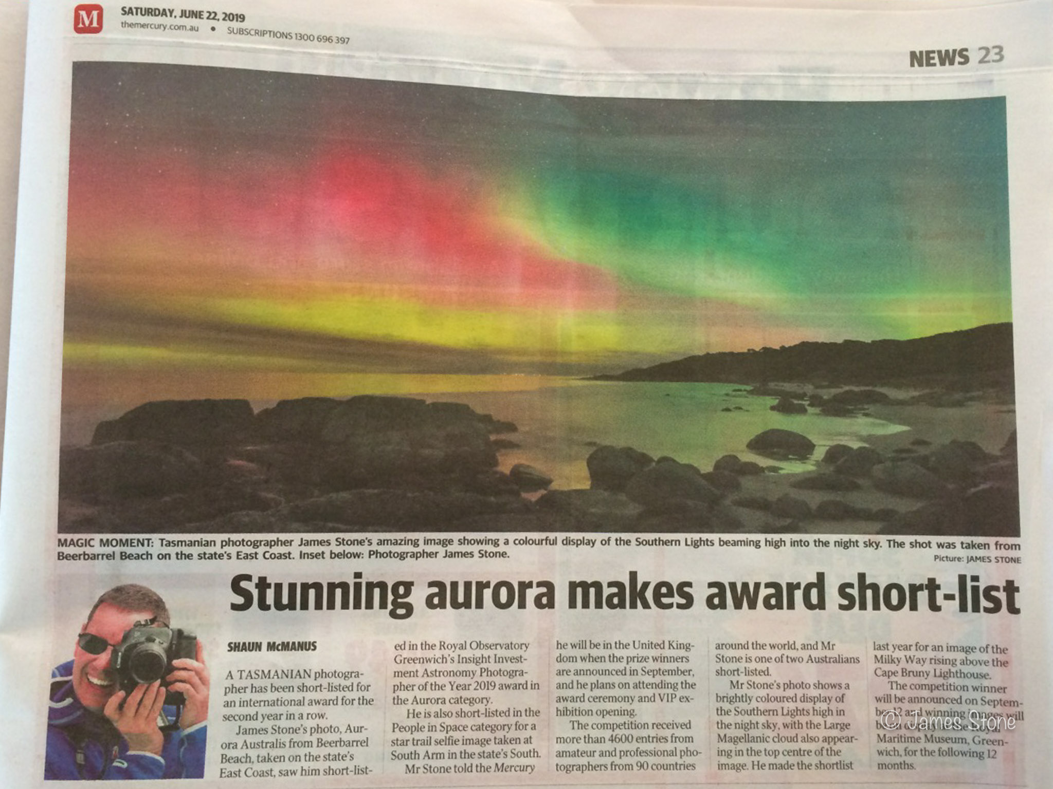 INSIGHT Astronomy Photographer of the Year article, June 2019.
