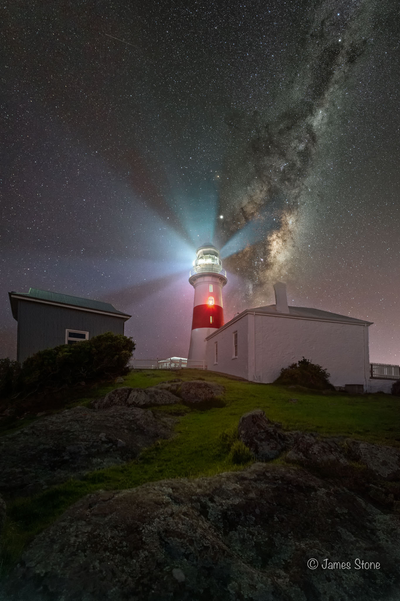 Low Head Lighthouse under the Milky Way