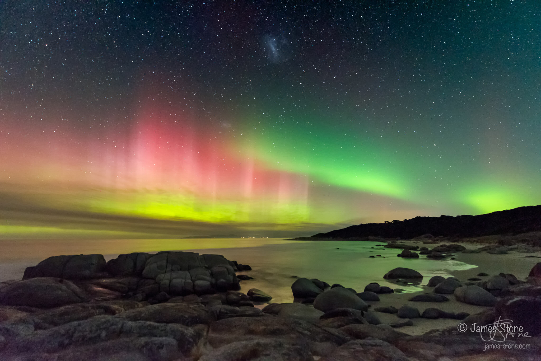 2nd Place Aurora Category - Aurora over Beer Barrel Beach