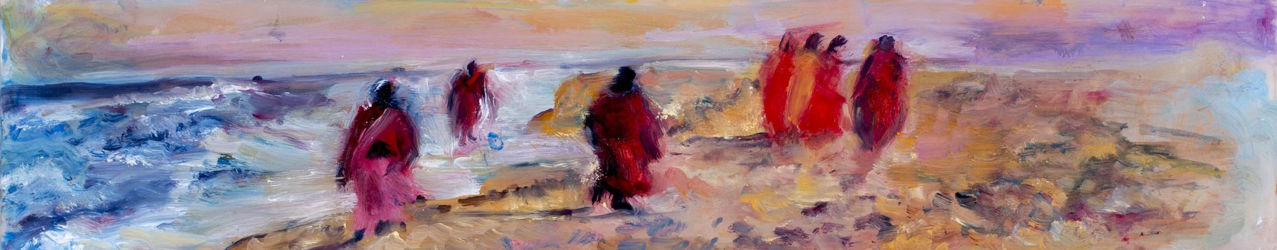 "Medium: Oil Paint on Mylar  Dimensions: 12½""x2½"""