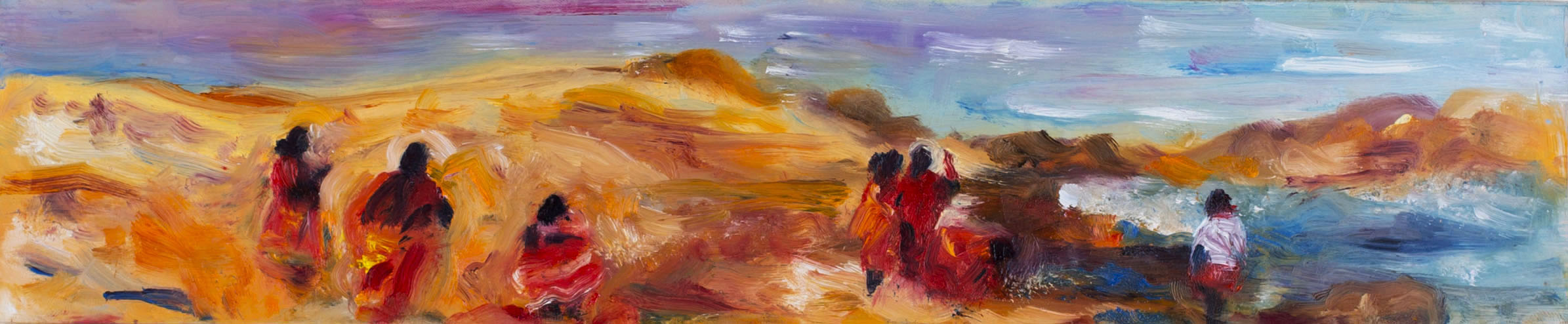 "Medium:  Oil Paint on Mylar   Dimensions:  12¾""x2½"""