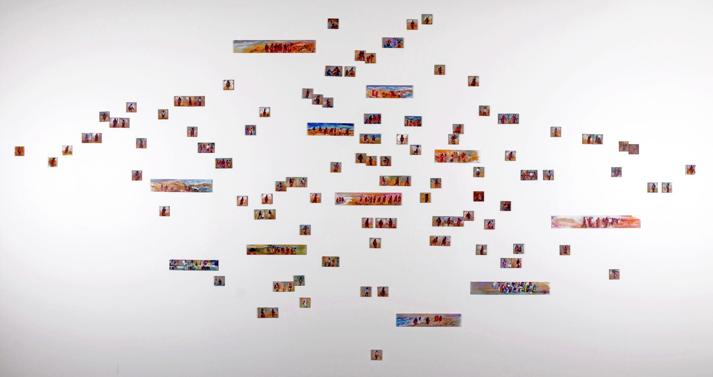 "Medium: Painting Installation  Dimensions: 170"" x 70"""