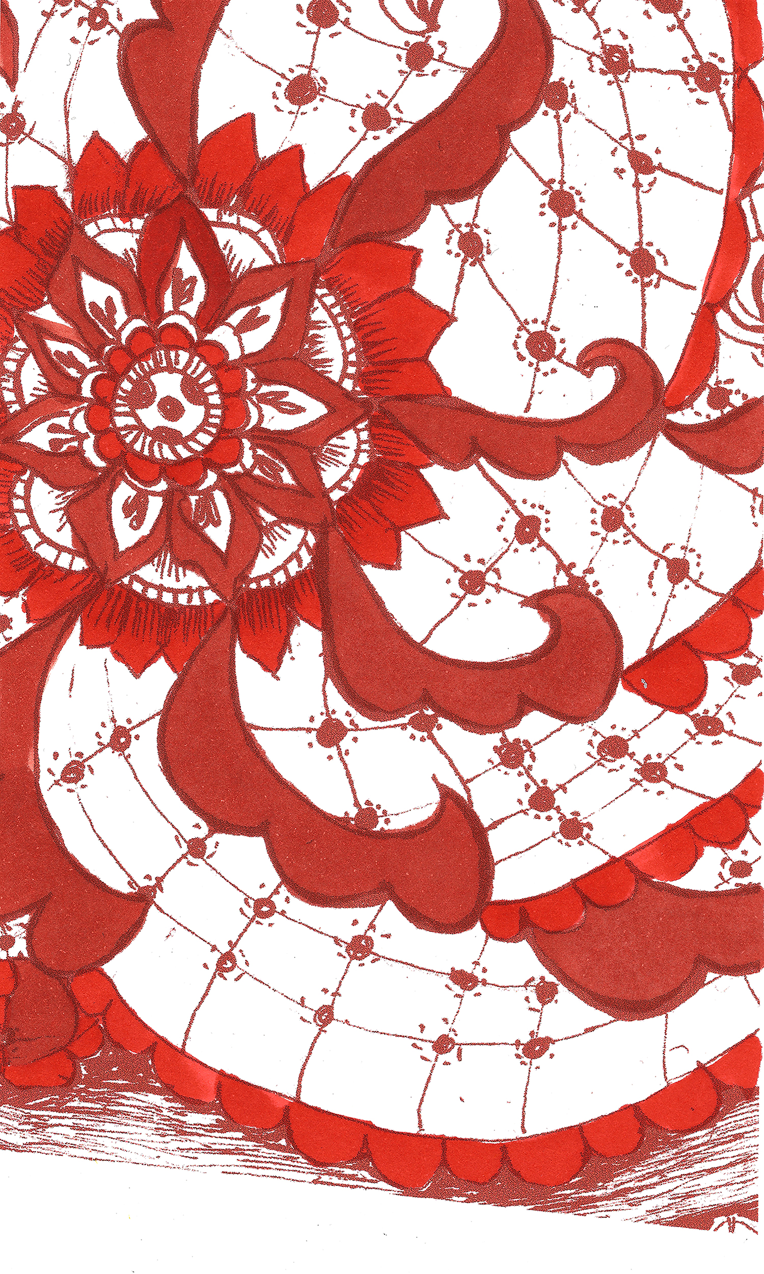 Indian Cuisine  This pattern is influenced by the country's traditional mehendi forms— for instance, paisley, floral, and other organic shapes.