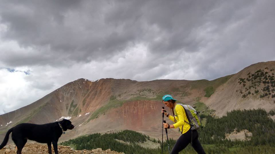 Preparing to get caught in the storm on Mt. Antero with my late 11am start
