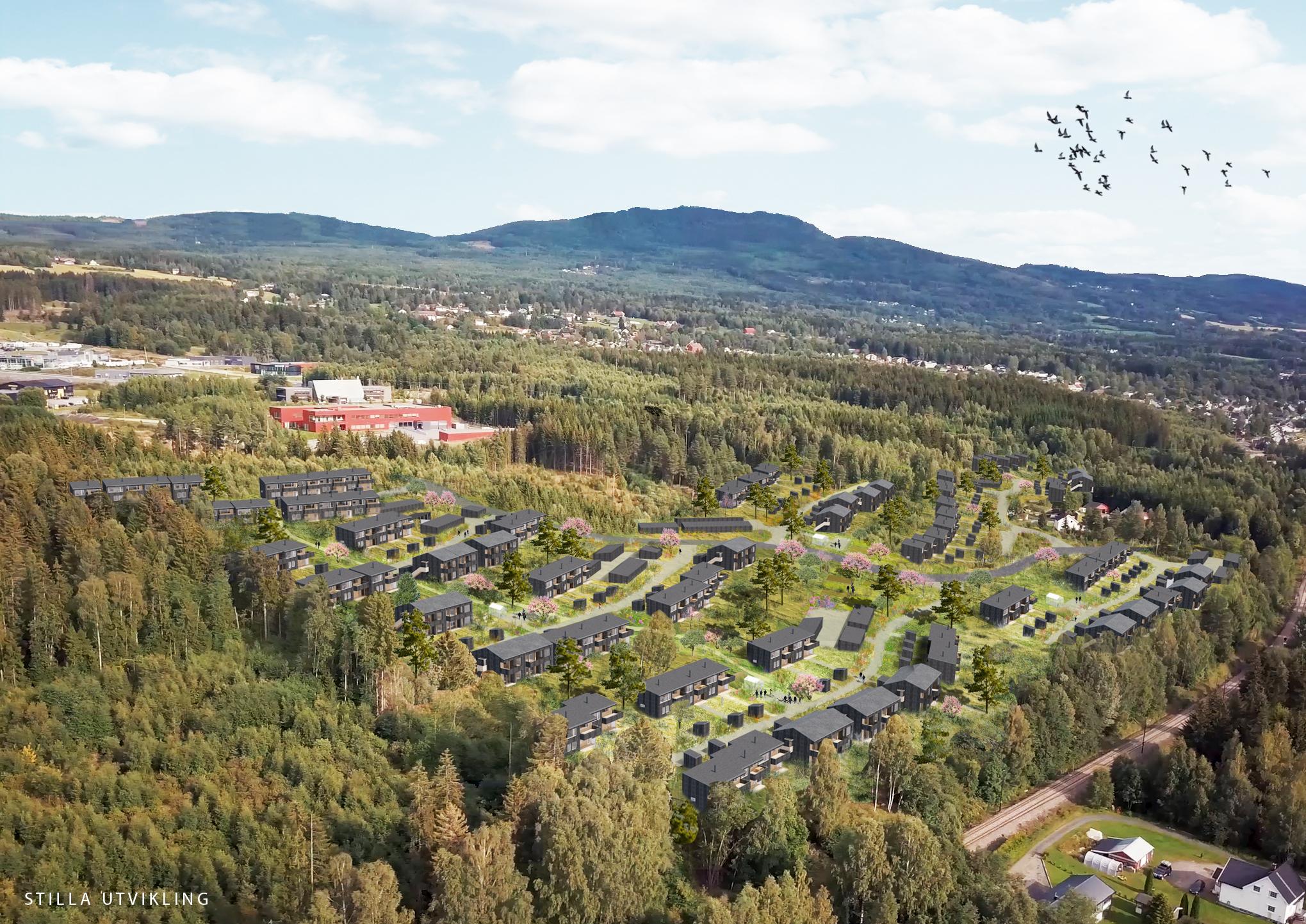 Gran - To grønne boligtun på Rognekollen - sentralt på Hadeland