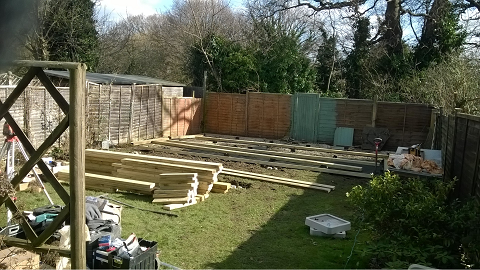 Day 2 - The Treated floor structure starts to take shape -