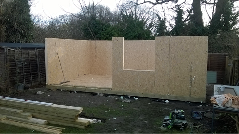 Day 3 - The Floor is completed and the SIP walls start to go up -
