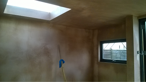 Day 8 - Internal plasterboard and skim finish is completed -