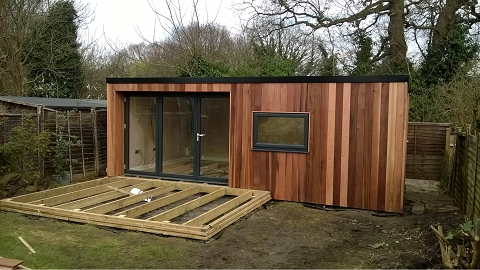 Day 10 - Two coats of clear UV oil applied to the exterior cladding -