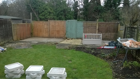 Day 1 - Start of the build and the site is marked out -