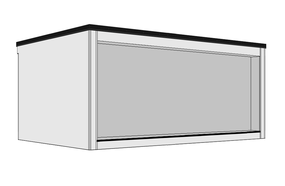 Full Front Recess - A 300mm recessed overhang is created to the front aspect,together with a decked step running the full length.