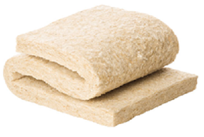 Wool Fleece Insulation - Abbreviations: None.Brands: Thermafleece.Appearance: Available in rolls and also slabs, this material is denser than mineral wool, soft to touch and has the appearance of wool.Thicknesses: 50mm – 140mm typically.Pros: + Medium cost insulation material + Some grades have excellent acoustic properties + Breathable + Easy to fit + Natural product.Cos: - Performs less well than other as an insulation material for the same thickness of material.