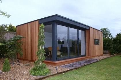 We consider our designs to be of the time and contemporary when compared to more traditional garden outbuildings such as log cabins. This is also the case when it comes to insulation. Most log cabins rely on the timber used to construct the walls to also function as the main insulating layer. Timber is great as a structural material however it is not so good when used as an insulation material and provides very little in the way of thermal performance when compared to modern insulating materials.