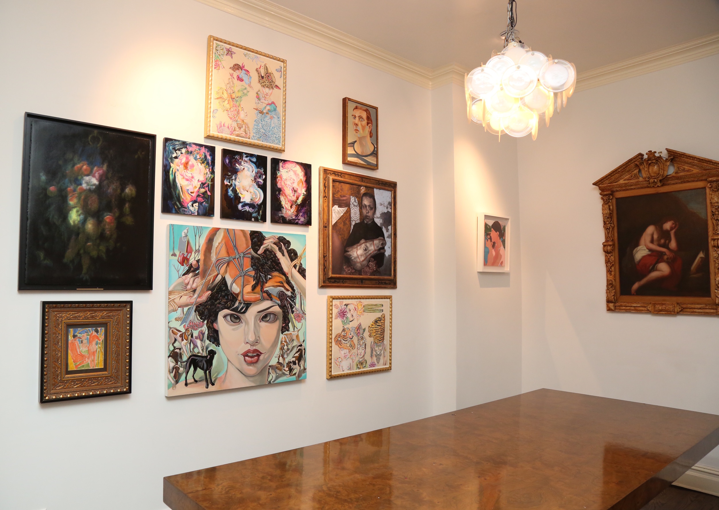Lepore Savage Gallery's west wall. ( Photo:    Elizabeth Brooks for Molly Krause Communications)