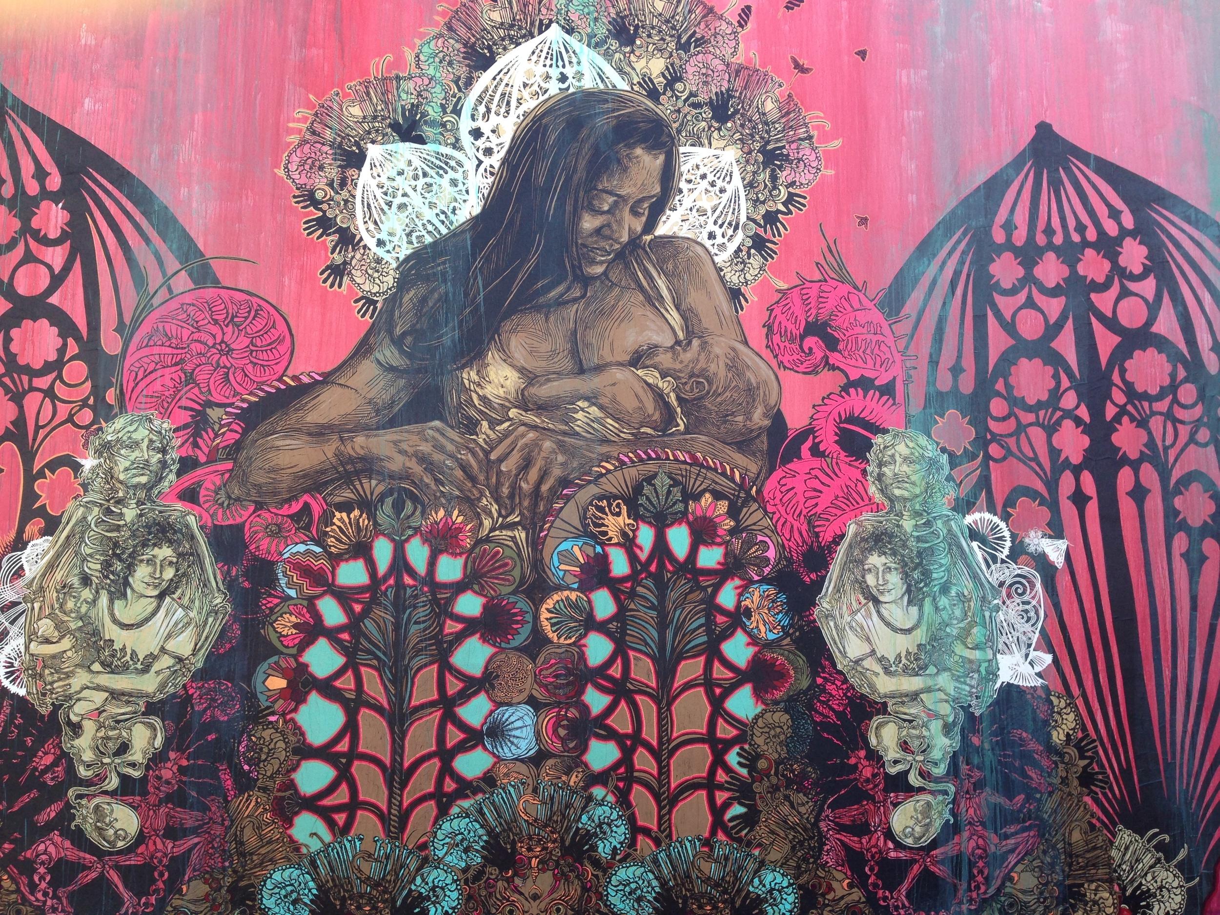 Swoon's 2014 installation for the Goldman Family's Wynwood Walls public art program. ( Photo : Swoon Studio)