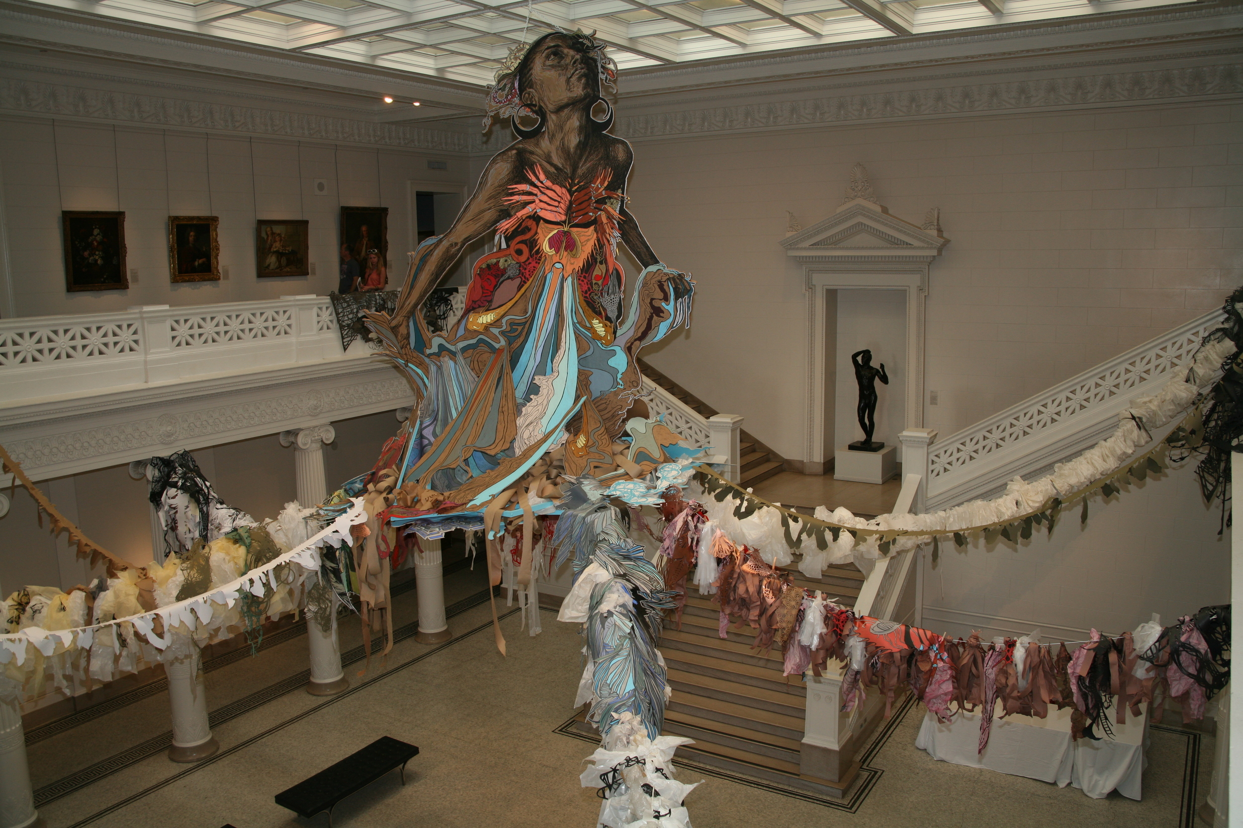Thalassa , a site-specific installation at the New Orleans Museum of Art, 2011. ( Photo :Tod Seelie)