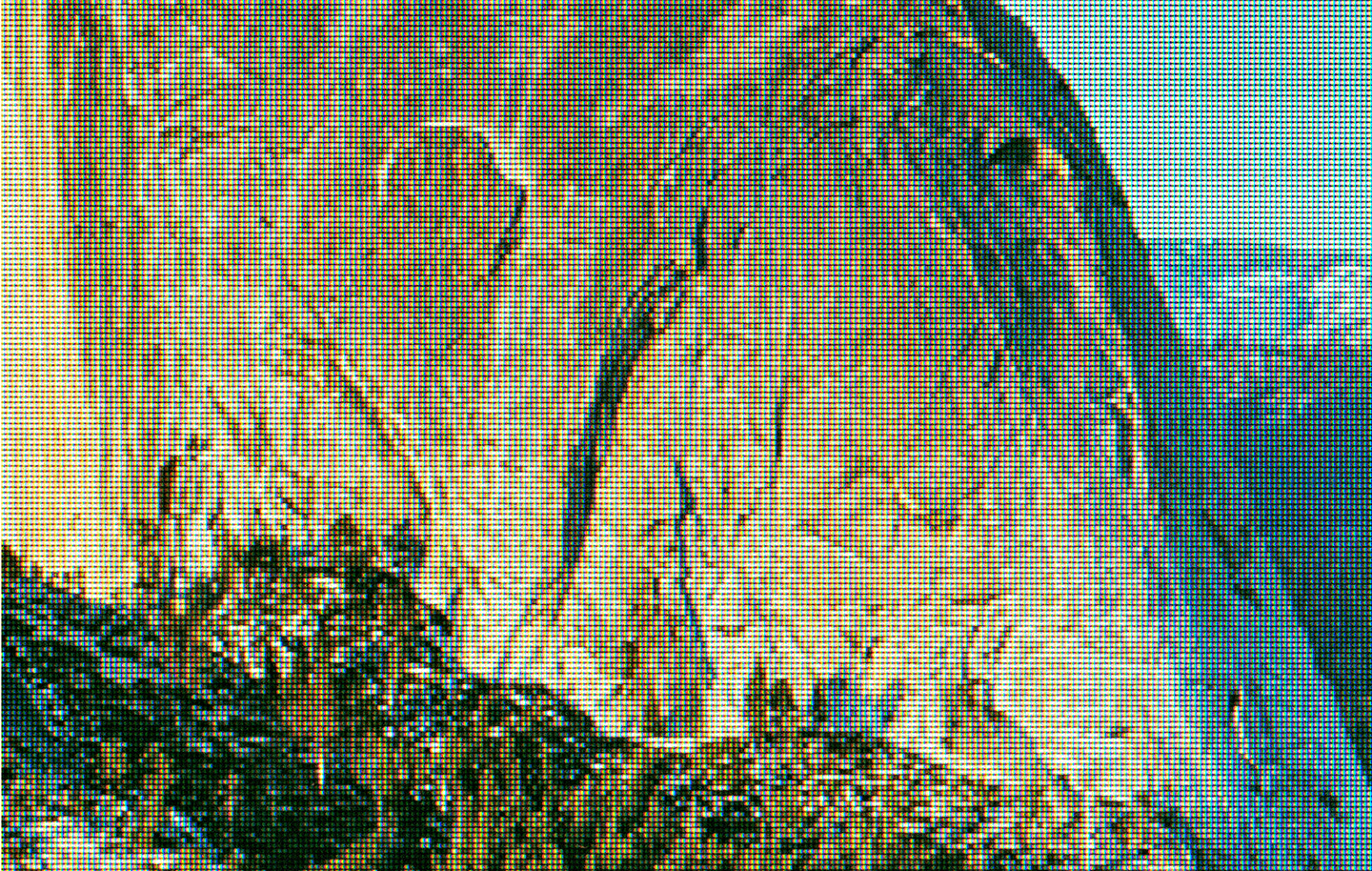 Detail:  Half Dome as Viewed from Glacier Point, Yosemite National Park. Original Photo by DAVID ILIFF; Creative Commons License CC-BY-SA 3.0   (from    eScapes   series),2015. 30.4 x 48 inches. Pigment print.