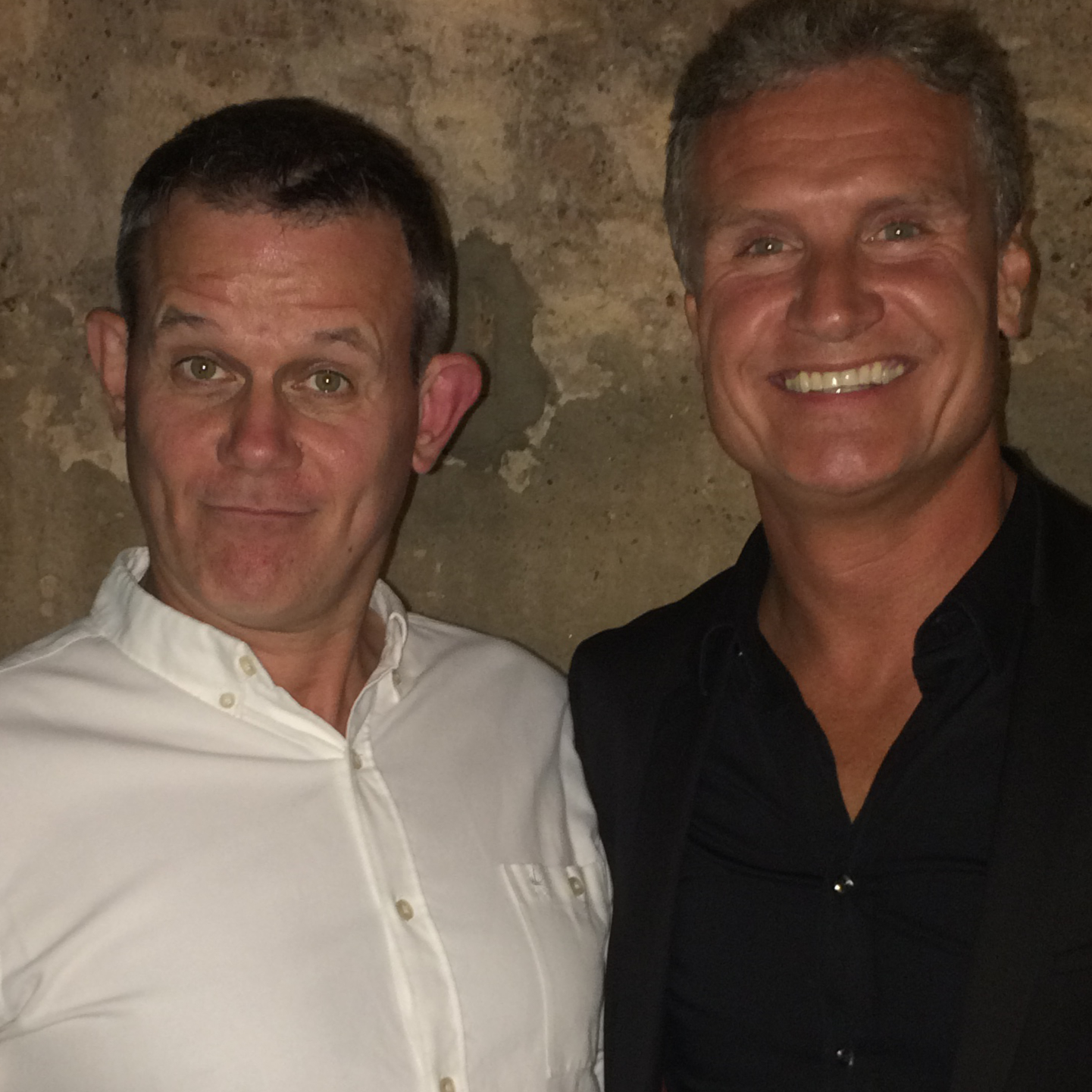KC and DC: Kenny gets caught loitering with fellow Scot and F1 chappie David Coulthard