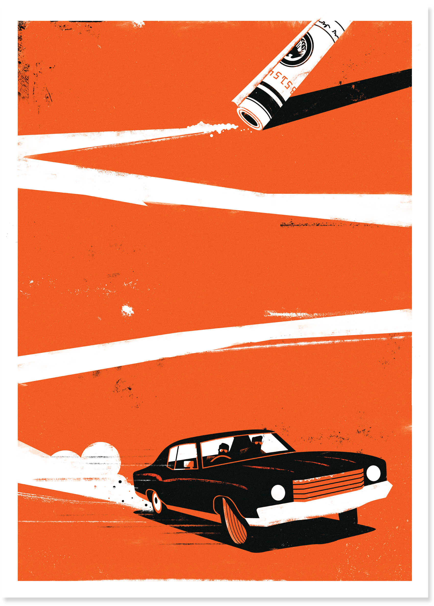 dale edwin murray freelance illustrator delve war on everyone movie film print poster illustration