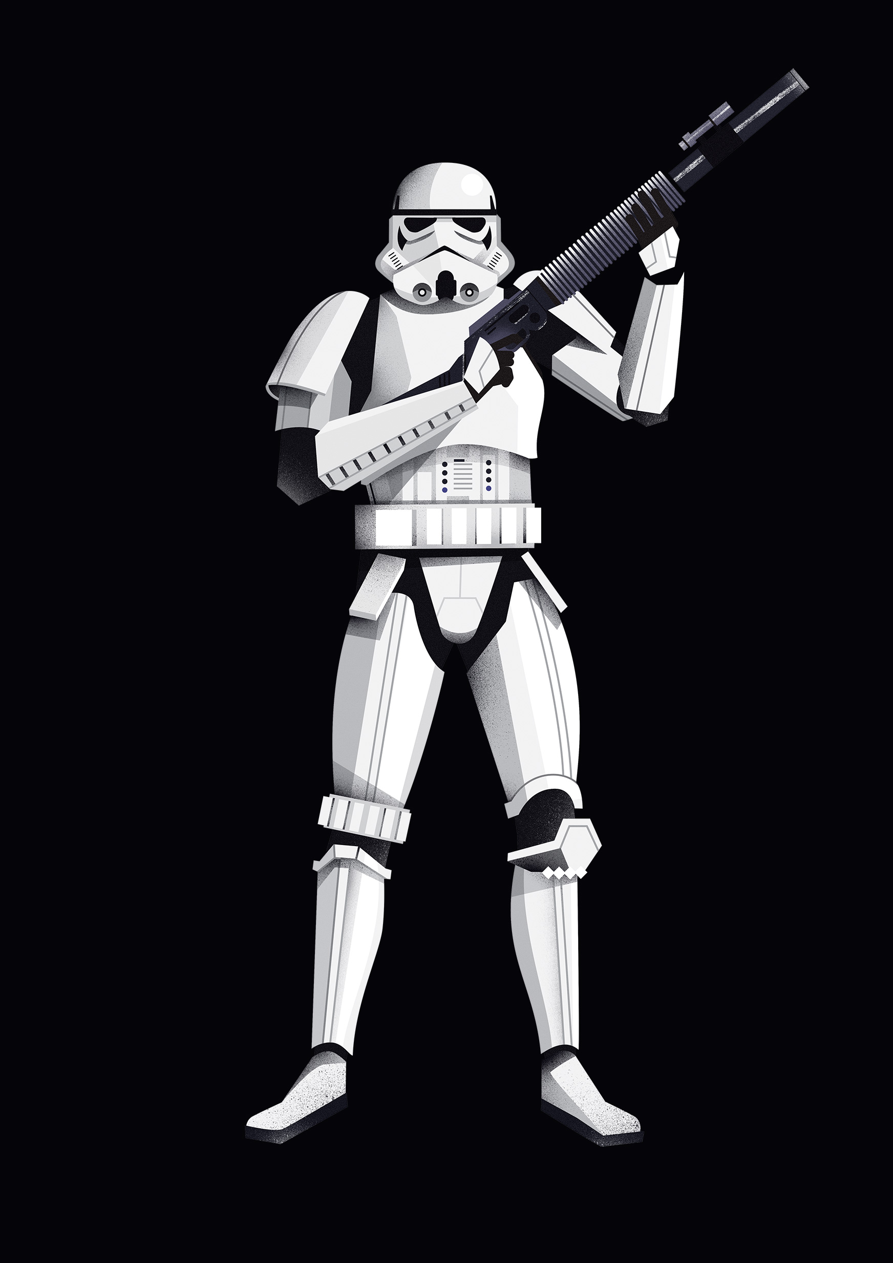 freelance illustrator dale edwin murray star wars rogue one disney complex illustration stormtrooper