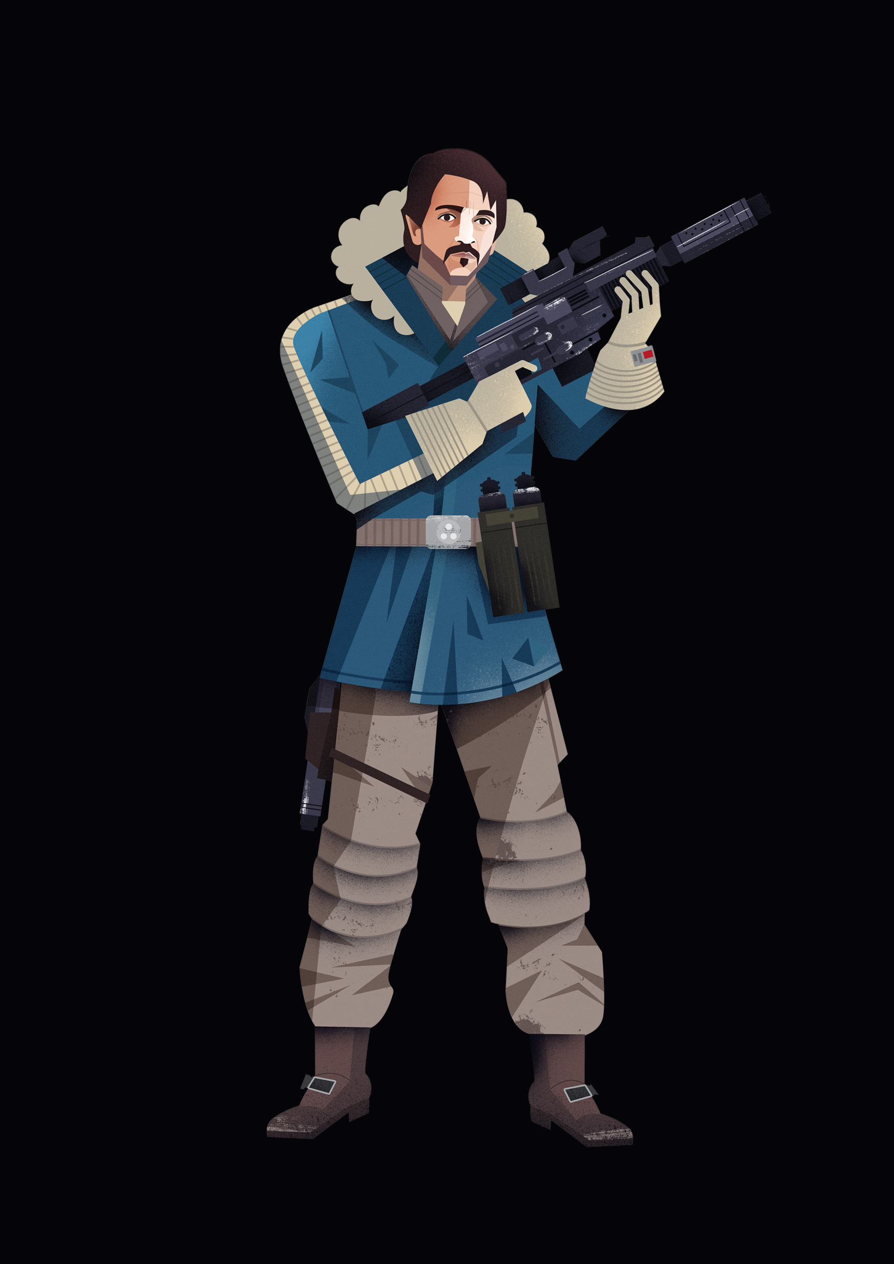 freelance illustrator dale edwin murray star wars rogue one disney complex illustration cassian andor