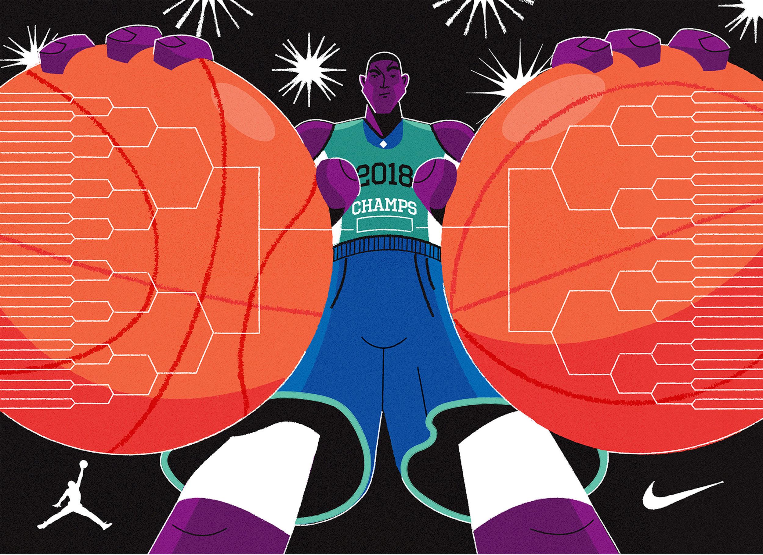 dale edwin murray freelance illustrator editorial conceptual nike basketball illustration