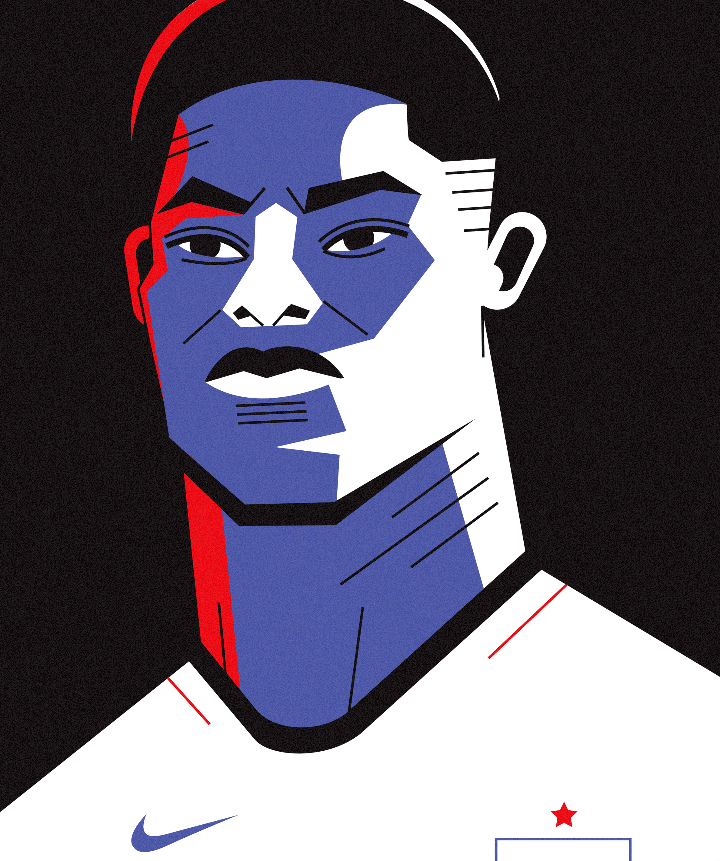 dale edwin murray freelance illustrator personal marcus rashford portrait illustration