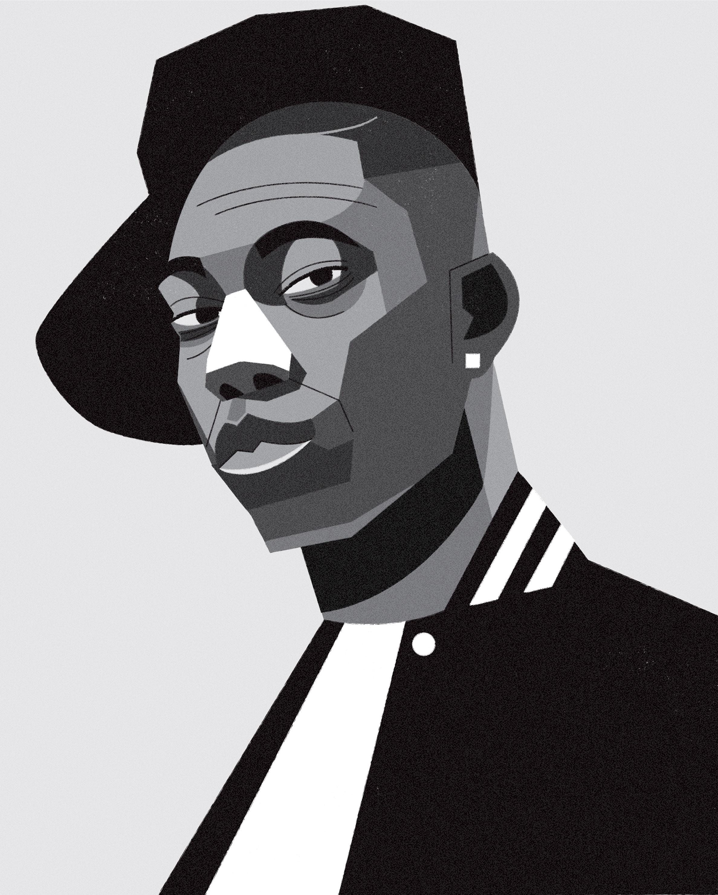 dale edwin murray freelance illustrator dizzy rascal grime uk portrait illustration