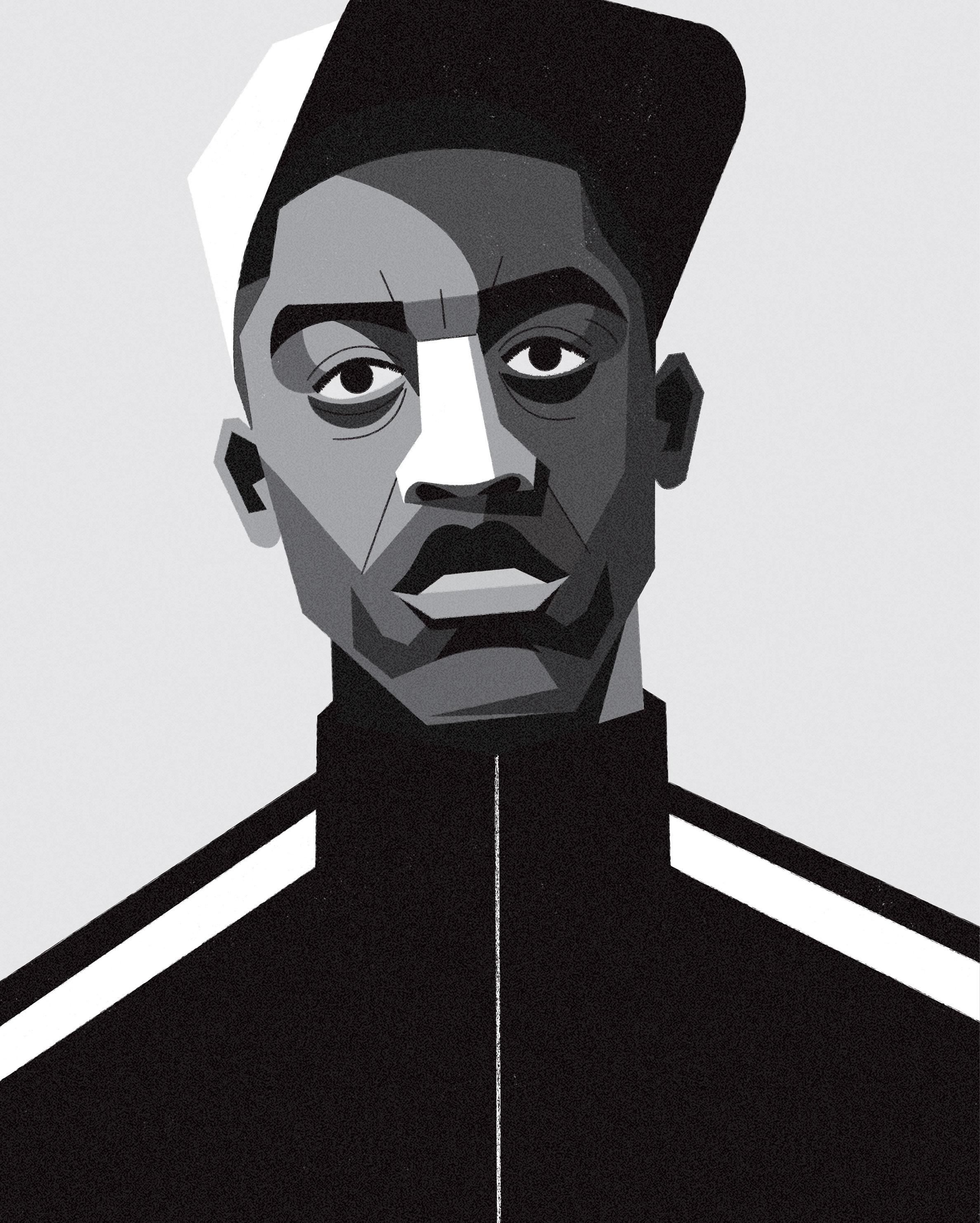 dale edwin murray freelance illustrator wiley grime uk portrait illustration