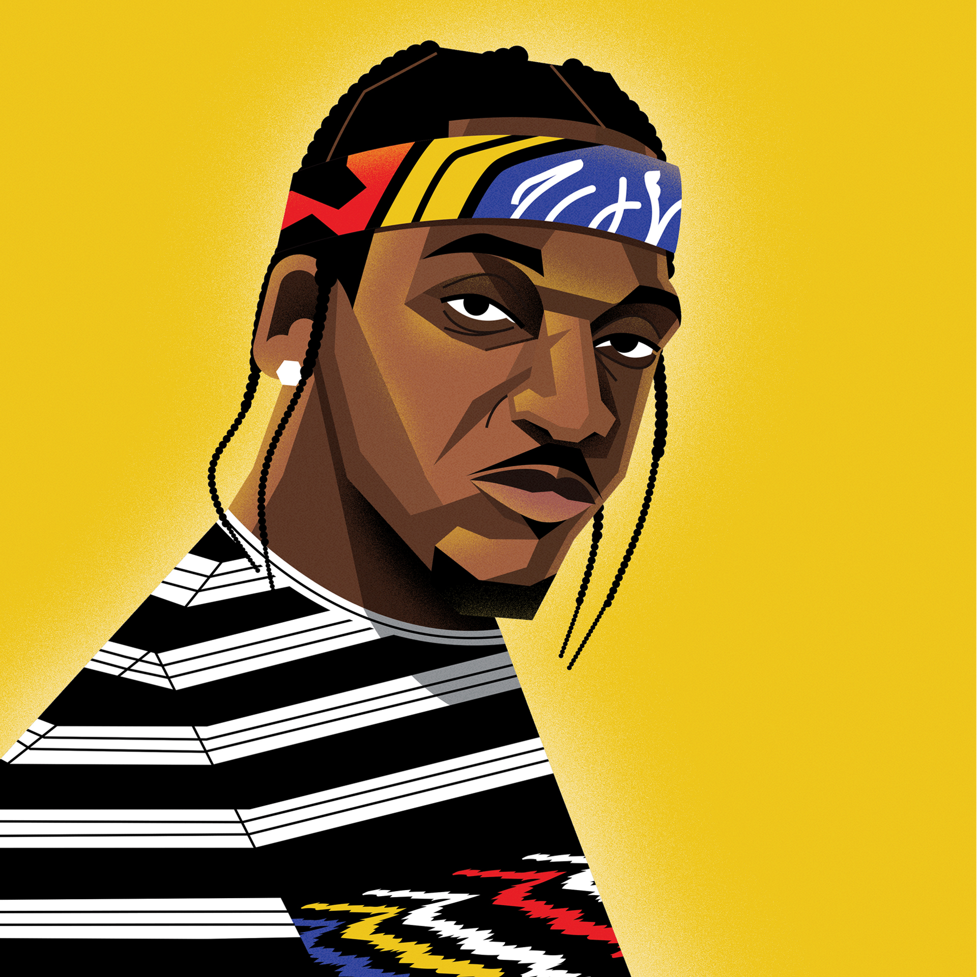 dale edwin murray freelance illustrator complex pusha t hip hop  illustration