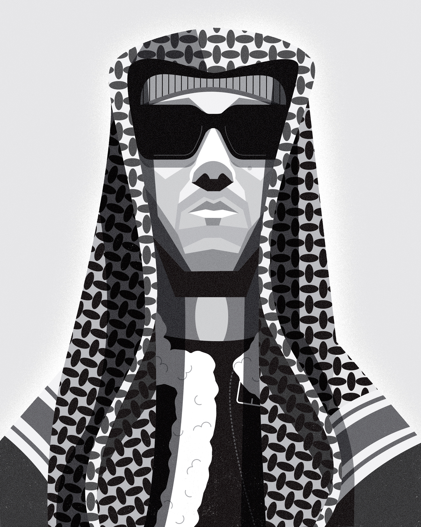 dale edwin murray freelance illustrator kamaal Williams portrait illustration