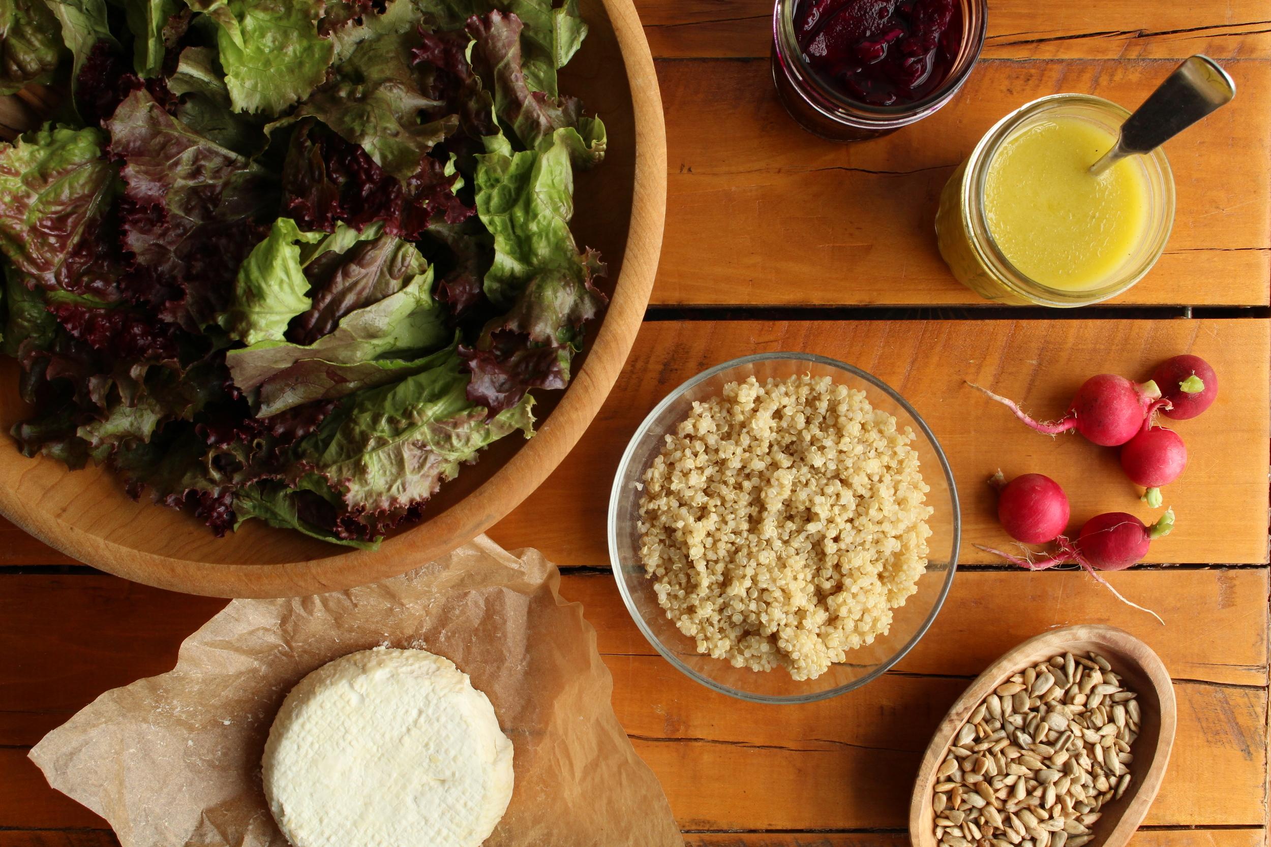 Salad setup