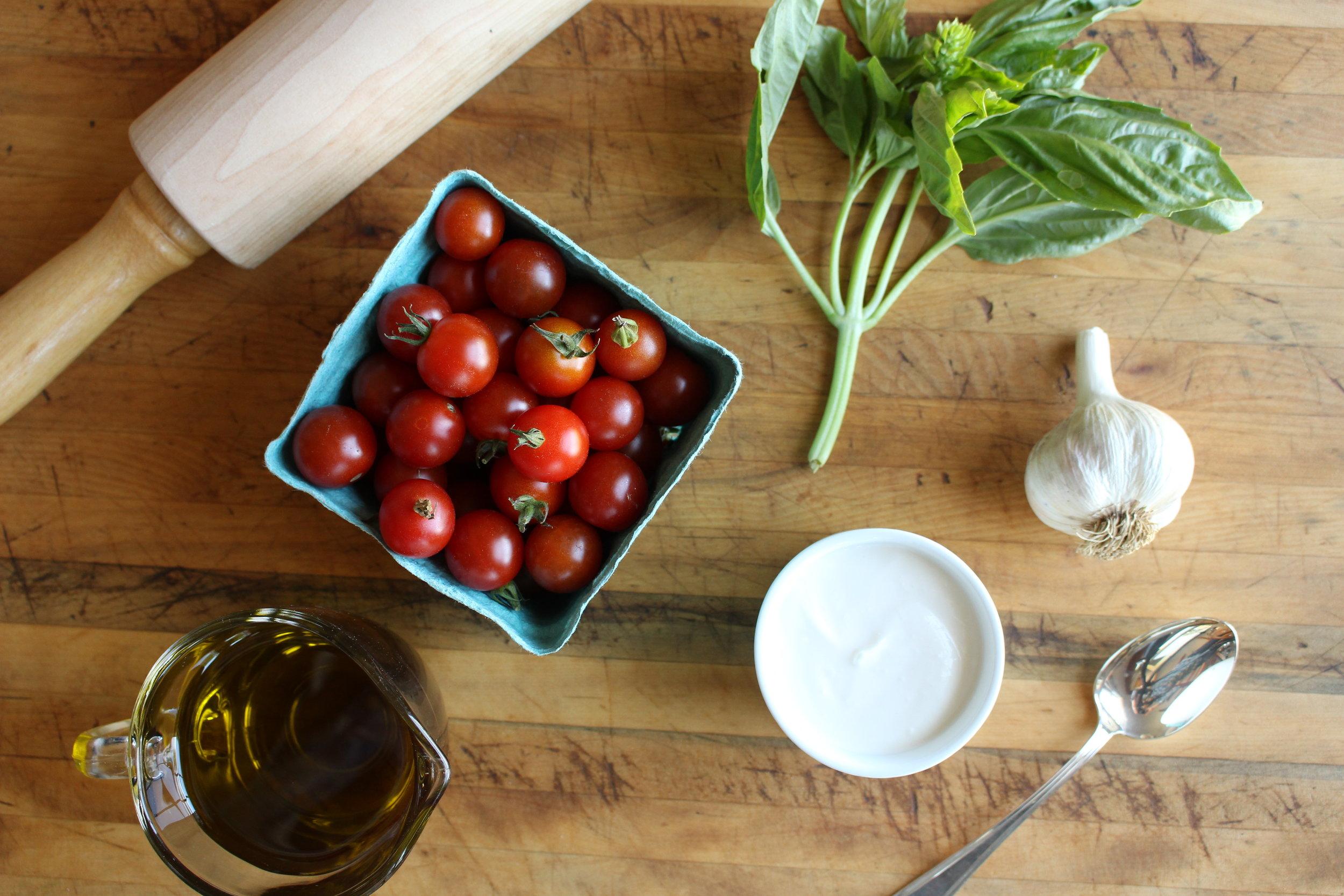 Tomato tartlet mise