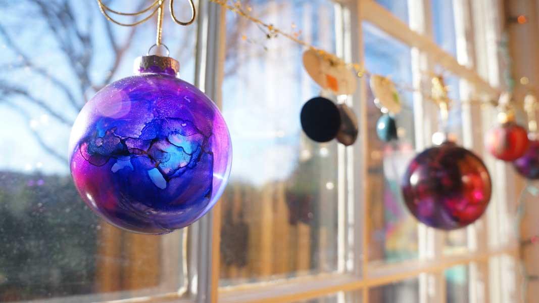 dyed globe by Pamela Schmidt