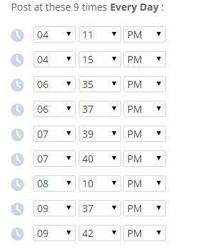Followerwonk Buffer schedule