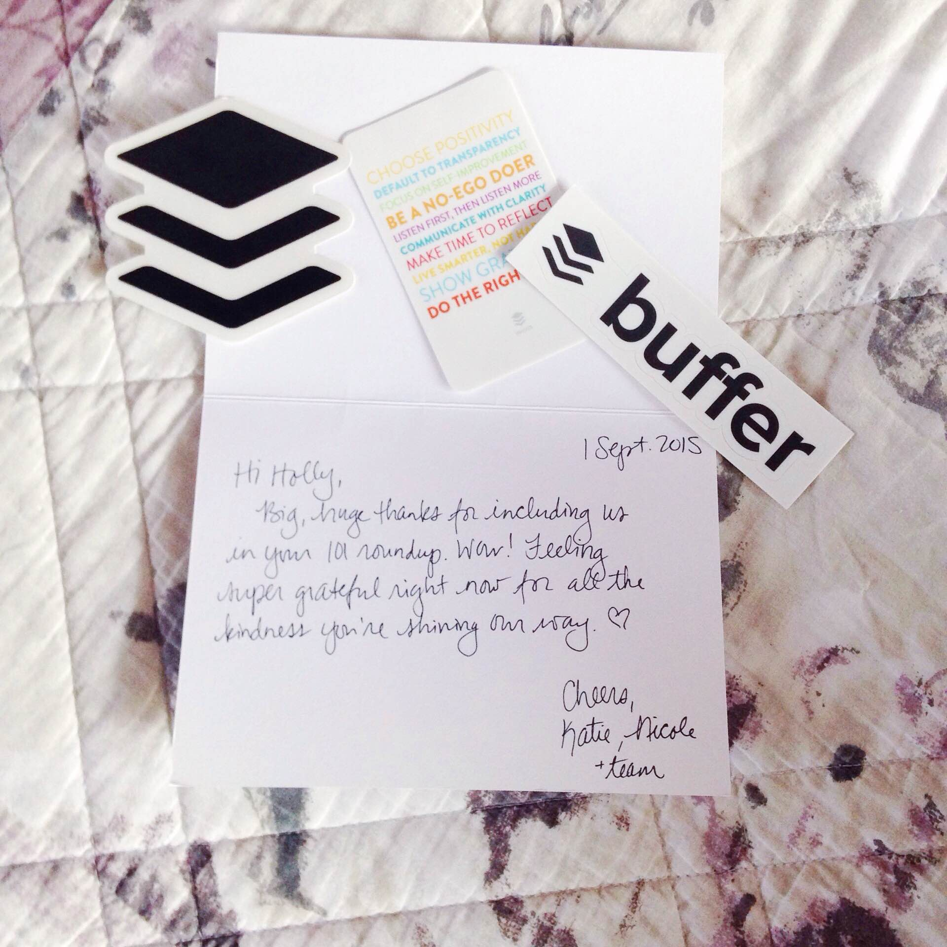 A gift from the Buffer team