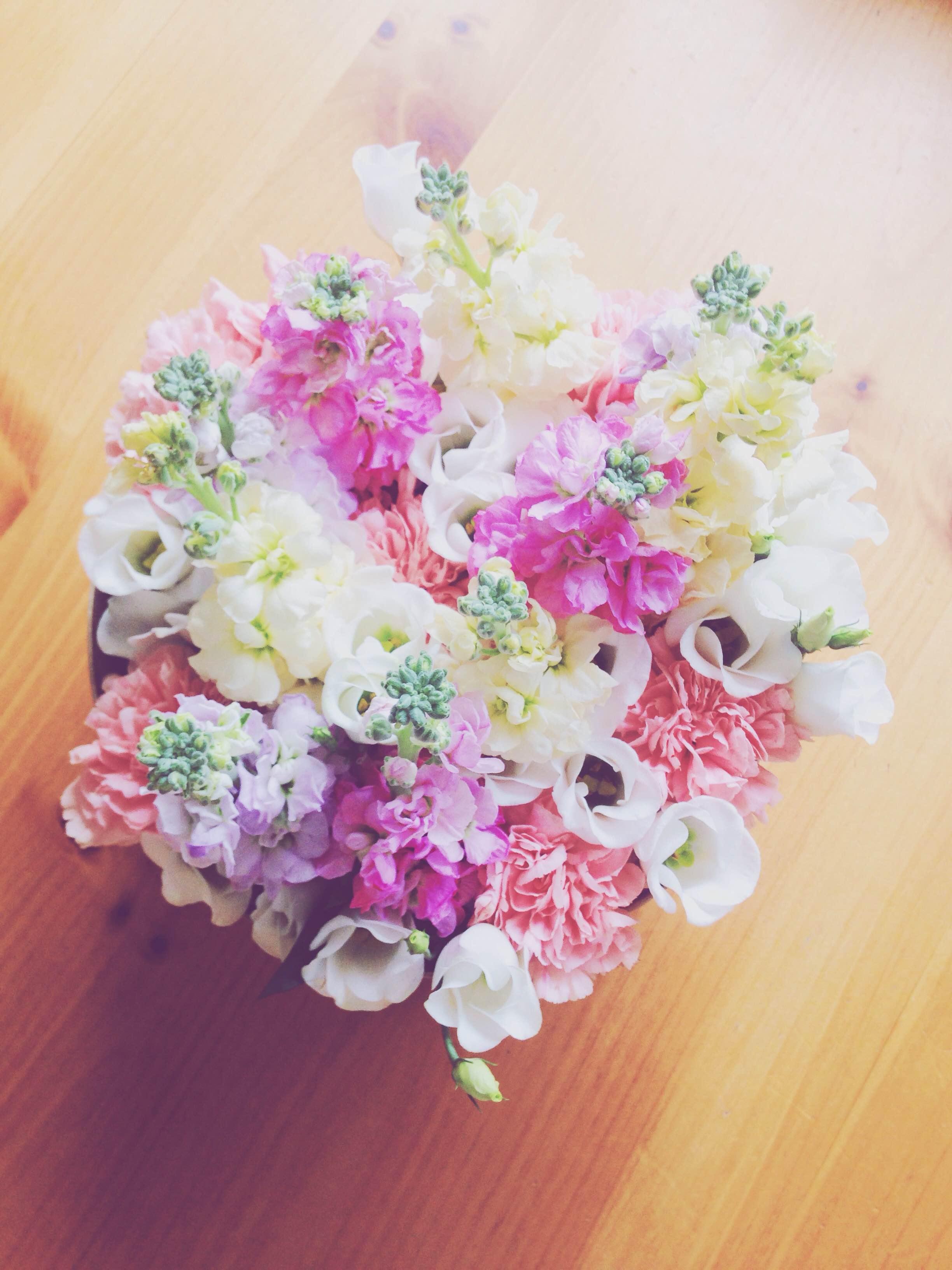 A flower arrangement I made for my Mum's birthday
