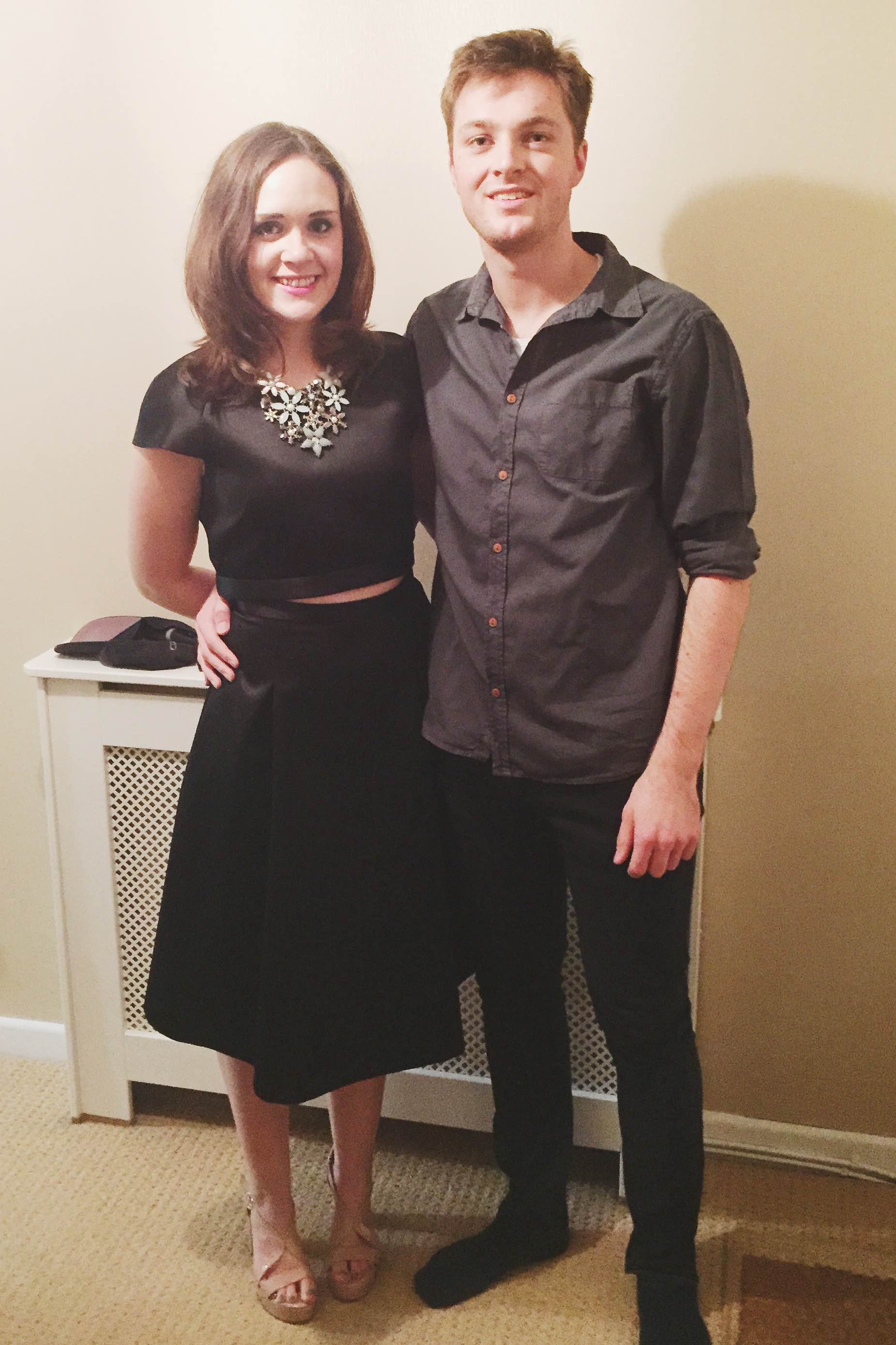 Tom & I dressed up for a family party