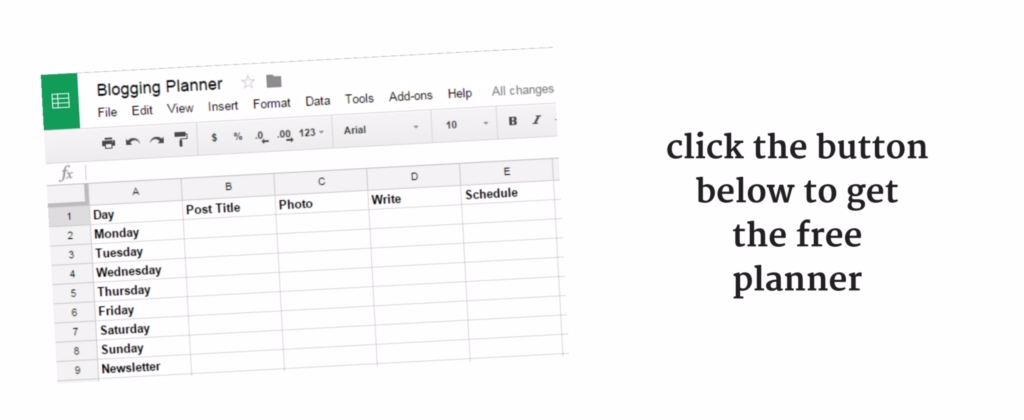 click the button to get the free planner