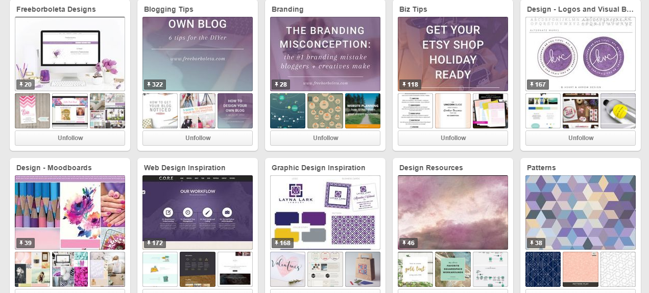Branded Pinterest Boards