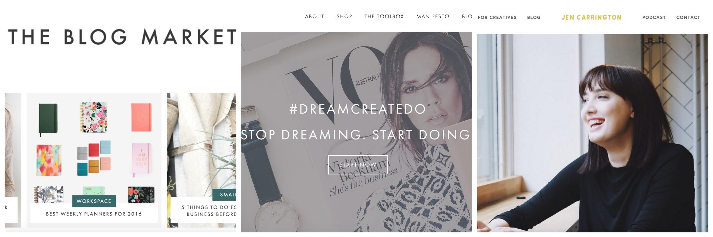 The Blog Market               Dream Create Do                 Jen Carrington