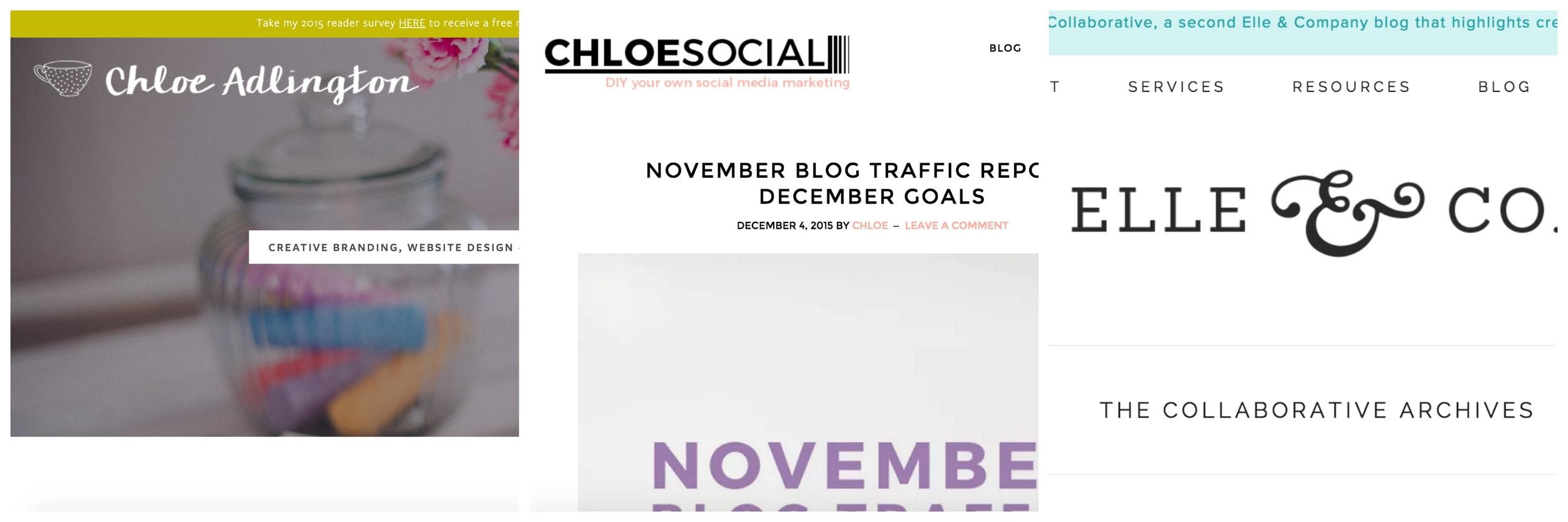 Chloe Adlington                   Chloe Social              Elle & Co Collaborative