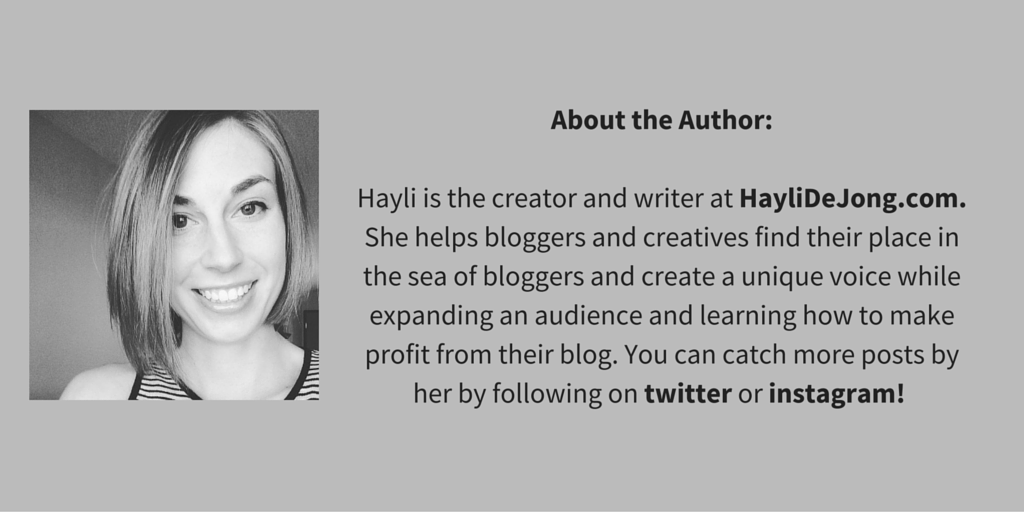 About the Author - Hayli De Jong