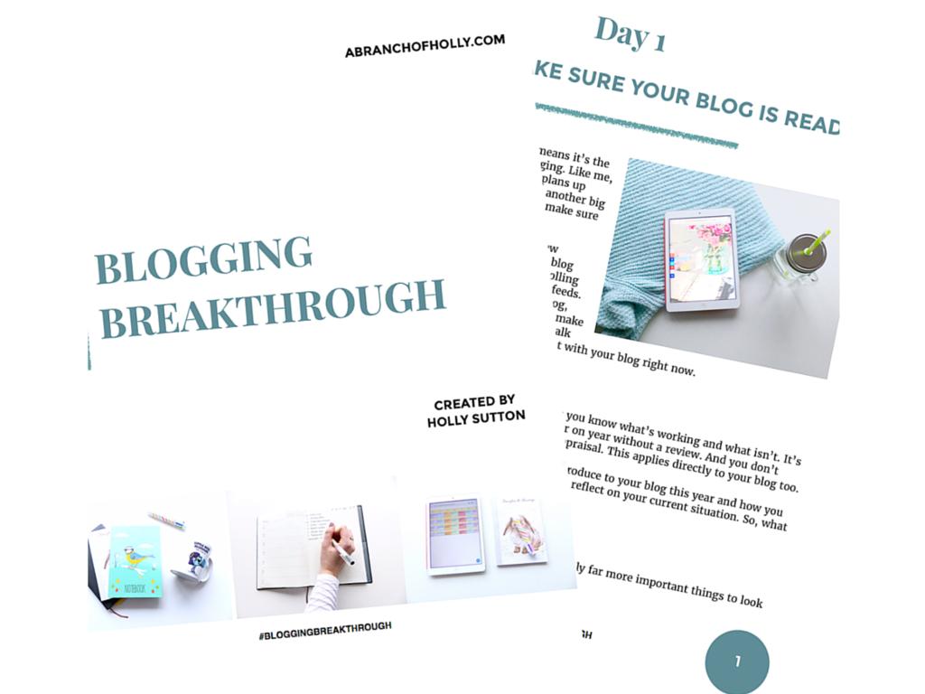 Blogging Breakthrough - the eBook